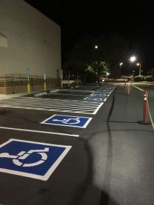 painted handicap spaces