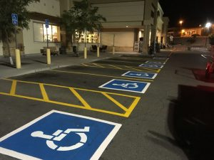handicap space painted