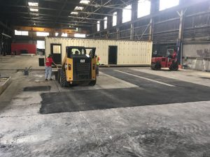 asphalt in warehouse