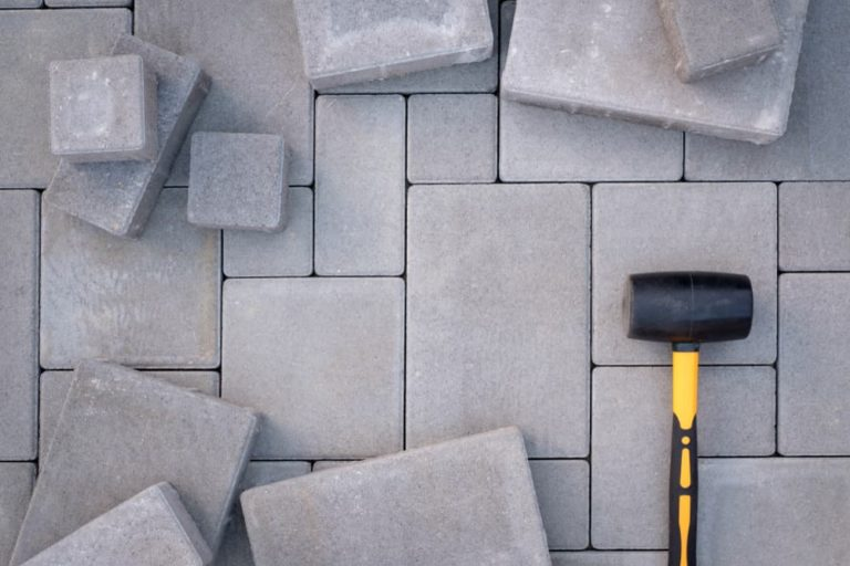 paving-stones-background-installing-tools
